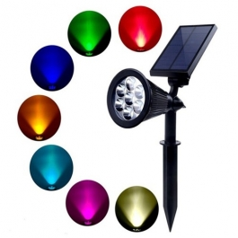Aes Multicolor Solar Flood Light
