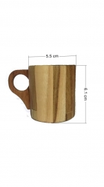 Mannbhav Wooden  Tea Cup Full  100 Ml