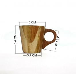 Wooden Tea Cup For Half Tea 60ml