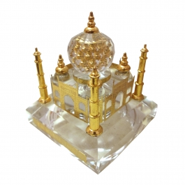 24k Gold Plated Crystal Illuminated Taj Mahal (four Colour Battery Operated Light)