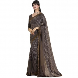Bollywood Designer Coffee Coloured Saree With Blouse Piece