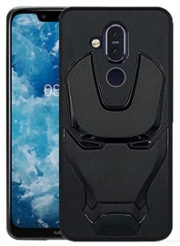 Ajm Premium Quality 3d Design Matte Finish Soft Rubberised Back Cover For Nokia 8.1