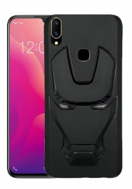 Ajm 3d Design Matte Finish Soft Rubberised Back Cover For Vivo V11 (only V11)