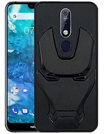 Ajm Premium Quality 3d Design Matte Finish Soft Rubberised Back Cover For Nokia 7.1