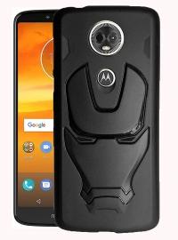Ajm Premium Quality 3d Design Matte Finish Soft Rubberised Back Cover For Motorola Moto E5 Plus