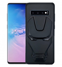 Ajm Premium Quality 3d Design Logo Matte Finish Soft Rubberised Back Cover For Samsung Galaxy S10 Plus