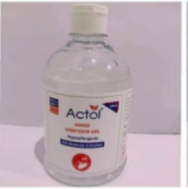 Hand Sanitizer 500 Ml (actol)  Combo Of 2