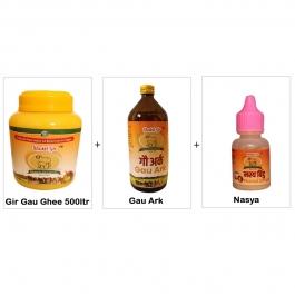 Gir Gau Ghee 500 Ml + Gau Ark + Nasya