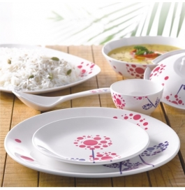 Borosil 35 Piece Melamine Dinnerset Fidenza Round - Bloom