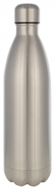 Platina Stainless Steel Water Bottle, 1 Liter, 1-piece, Silver