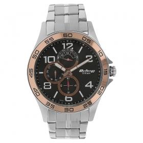 Titan Octane Black Dial Multifunction Watch For Men (1702km02)