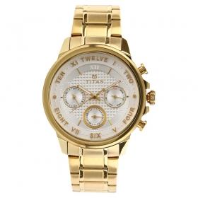 Titan Regalia Sovereign White Dial Chronograph Watch For Men (1747ym01)