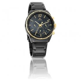 Titan Regalia Sovereign Black Dial Chronograph Watch For Men (1748km02)