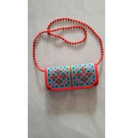 Handicraft Kutchi Orange Purse