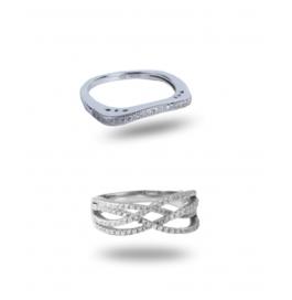 Platinum Plated Stylish Ring Combo