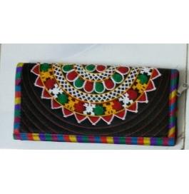 Handicraft Kutchi Black Purse