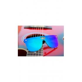 Bollywood Style Round Blue Mirror Wayfarer Sunglasses For Unisex