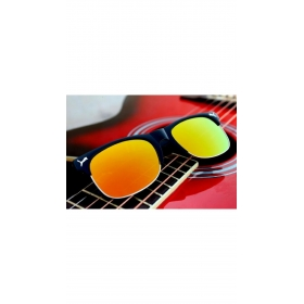 Xforia Eyewear Retro Vintage Yellow Half Rim Rectangular Fancy Sunglasses Uv Goggles For Men & Women