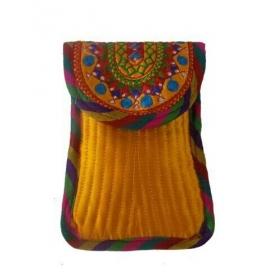 Handicraft Kutchi Yellow Purse