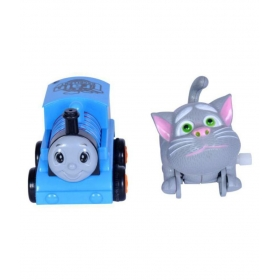 2 Cute Thomas Train And Tom Cat Friction And Windup Combination Toys