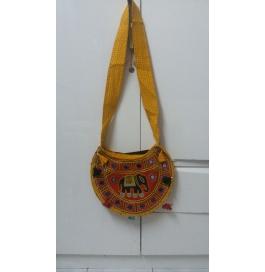 Handicraft Kutchi Orange Sling Bags