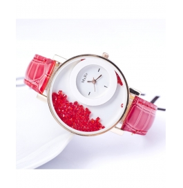 New Crystal Diamond Red Color Women's Watch