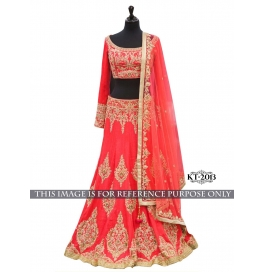 Sas Creations Grand Net Multi Lehenga