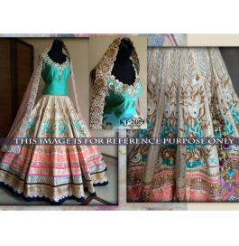 Sas Creations Super Net Multi Lehenga