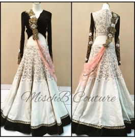 Sas Creations Super Best Net Multi Lehenga