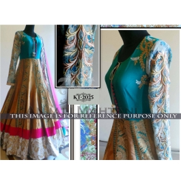 Sas Creations Fab Peachy Net Multi Gowns