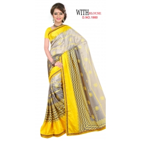 D No 1980 - London Beauty Series - Office / Daily Wear Saree