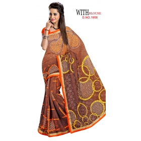 D No 1958 - Gold Star Series - Office / Daily Wear Saree