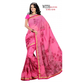 D No 1218 - Gold Star Series - Office / Daily Wear Saree