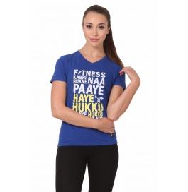 Crush Fitness Women Cotton Haye Hukku Blue T-shirt