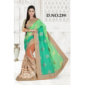 D No-239 Bridal Wear  – Heavy Designer Season Special Sarees