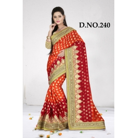 D No-240 Bridal Wear  – Heavy Designer Season Special Sarees