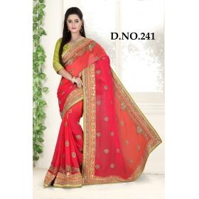 D No-241 Bridal Wear  – Heavy Designer Season Special Sarees