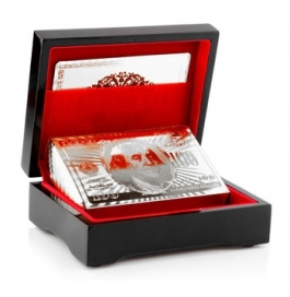 Silver Plated Playing Card With Box