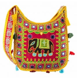 Handicraft Kutchi Yellow Sling Bags