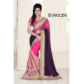 D No-251 Bridal Wear  – Heavy Designer Season Special Sarees