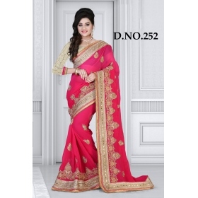 D No-252 Bridal Wear  – Heavy Designer Season Special Sarees