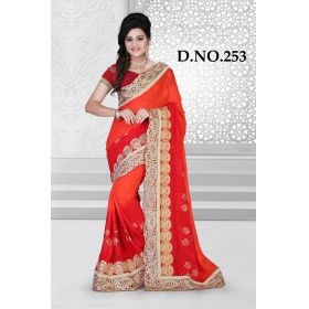 D No-253 Bridal Wear  – Heavy Designer Season Special Sarees