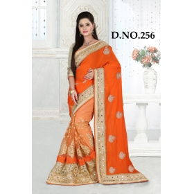 D No-256 Bridal Wear  – Heavy Designer Season Special Sarees