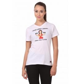 Crush Fitness Women Cotton Good Indian Women White T-shirt