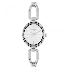 Titan Raga Viva Silver Dial Analog Watch For Women (2579sm01)