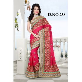 D No-258 Bridal Wear  – Heavy Designer Season Special Sarees
