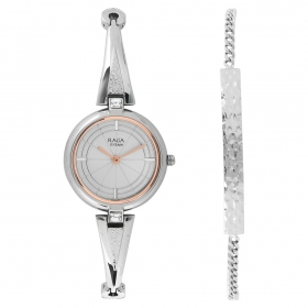 Raga Espana Icono By Titan Silver Dial Analog Watch For Women (2581sm01f)