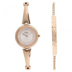 Raga Espana Icono By Titan Rose Gold Dial Analog Watch For Women (2581wm01f)
