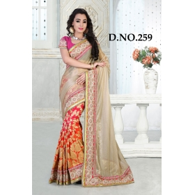 D No-259 Bridal Wear  – Heavy Designer Season Special Sarees