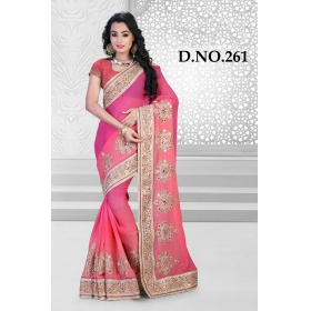 D No-261 Bridal Wear  – Heavy Designer Season Special Sarees